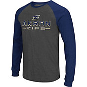 Colosseum Men's Akron Zips Grey Olympus II Long Sleeve Shirt