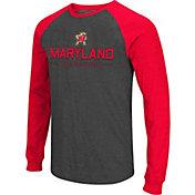 Colosseum Men's Maryland Terrapins Grey Olympus II Long Sleeve Shirt