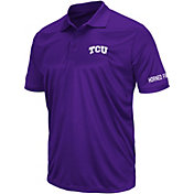 Colosseum Men's TCU Horned Frogs Purple Performance Polo