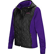 Colosseum Women's LSU Tigers Black/Purple Six Fingers Full-Zip Jacket