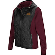 Colosseum Women's Minnesota Golden Gophers Black/Maroon Six Fingers Full-Zip Jacket