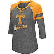 Colosseum Women's Tennessee Volunteers Grey Three-Quarter Sleeve Tri-Blend T-Shirt