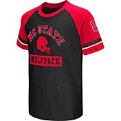 Colosseum Youth North Carolina State Wolfpack Red All Pro Raglan Football T-Shirt