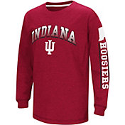 Colosseum Youth Indiana Hoosiers Cardinal Grandstand Long Sleeve T-Shirt