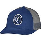 CCM Men's Tampa Bay Lightning Trucker Royal Mesh Adjustable Hat