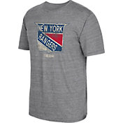 CCM Men's New York Rangers Big Logo Heather Grey T-Shirt