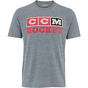 CCM Senior Vintage 3-Block Short Sleeve Hockey T-Shirt