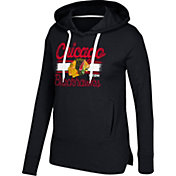 CCM Women's Chicago Blackhawks Bottom Stripe Black Pullover Hoodie
