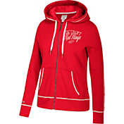 CCM Women's Detroit Red Wings Logo Fleece Red Full-Zip Hoodie