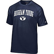 Champion Men's BYU Cougars Blue Logo T-Shirt