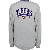 Champion LSU Tigers Grey Pursuit Long Sleeve Shirt