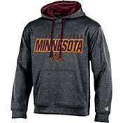 Champion Men's Minnesota Golden Gophers Grey T-Formation Hoodie