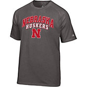 Champion Men's Nebraska Cornhuskers Grey T-Shirt