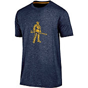 Champion Men's West Virginia Mountaineers Blue Touchback T-Shirt