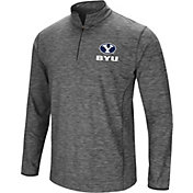 Colosseum Men's BYU Cougars Grey Action Pass Quarter-Zip Shirt
