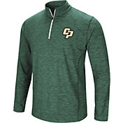 Colosseum Athletics Men's Cal Poly Mustangs Green Action Pass Quarter-Zip Shirt