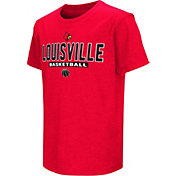 Colosseum Athletics Youth Louisville Cardinals Cardinal Red Dual-Blend Basketball T-Shirt