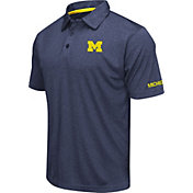 Colosseum Men's Michigan Wolverines Blue Axis Polo