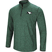 Colosseum Men's North Dakota Fighting Hawks Grey Action Pass Quarter-Zip Shirt