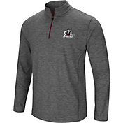 Colosseum Men's New Mexico State Aggies Grey Action Pass Quarter-Zip Shirt