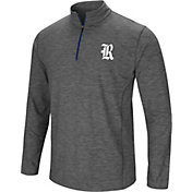 Colosseum Men's Rice Owls Grey Action Pass Quarter-Zip Shirt