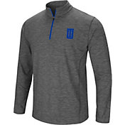 Colosseum Men's Tulsa Golden Hurricane Grey Action Pass Quarter-Zip Shirt