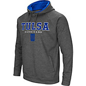 Colosseum Men's Tulsa Golden Hurricane Grey Fleece Hoodie