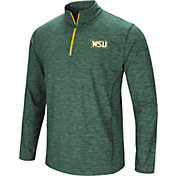 Colosseum Athletics Men's Wright State Raiders Green Action Pass Quarter-Zip Shirt