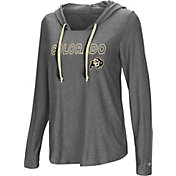 Colosseum Women's Colorado Buffaloes Grey Podium Featherweight Hoodie