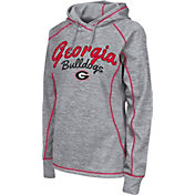 Colosseum Women's Georgia Bulldogs Grey Crossneck Pullover Hoodie
