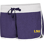 Colosseum Women's LSU Tigers Purple/White Racine Belles Reversible Shorts