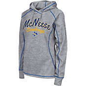 Colosseum Women's McNeese State Cowboys Grey Crossneck Pullover Hoodie