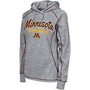 Colosseum Women's Minnesota Golden Gophers Grey Crossneck Pullover Hoodie