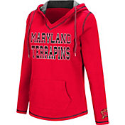 Colosseum Women's Maryland Terrapins Red Spike Fleece Hoodie