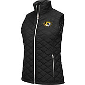 Colosseum Women's Missouri Tigers Black Elite Quilted Full-Zip Vest