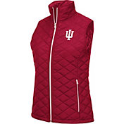 Colosseum Women's Indiana Hoosiers Crimson Elite Quilted Full-Zip Vest