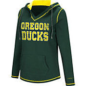 Colosseum Women's Oregon Ducks Green Spike Fleece Hoodie