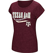 Colosseum Athletics Women's Texas AM Aggies Maroon Speckled Yarn T-Shirt