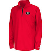 Colosseum Youth Georgia Bulldogs Red Draft Performance Quarter-Zip