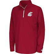Colosseum Youth Washington State Cougars Crimson Draft Performance Quarter-Zip