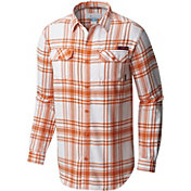 Columbia Men's Clemson Tigers Orange Plaid Flare Gun Flannel Long Sleeve Shirt