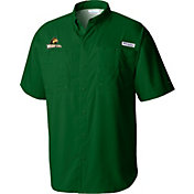Columbia Men's Wright State Raiders Green Tamiami Shirt