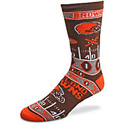 For Bare Feet Cleveland Browns Superfan Crew Socks
