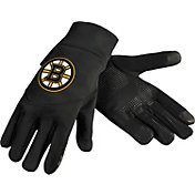 Forever Collectibles Boston Bruins Texting Black Gloves