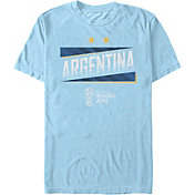 Fifth Sun Men's FIFA 2018 World Cup Russia Argentina Slanted Light Blue T-Shirt
