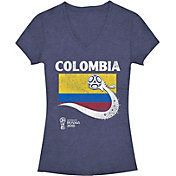 Fifth Sun Women's FIFA 2018 World Cup Russia Colombia Trophy Logo Navy T-Shirt