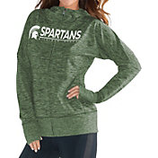 G-III For Her Women's Michigan State Spartans Green Receiver Full-Zip Hoodie