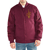 Starter Men's Cleveland Cavaliers Button Down Varsity Bomber Jacket