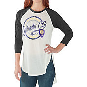 G-III for Her Women's Orlando City Tailgate Three Quarter Sleeve Vintage White T-Shirt