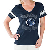 G-III For Her Women's Penn State Nittany Lions Blue First Pick V-Neck T-Shirt